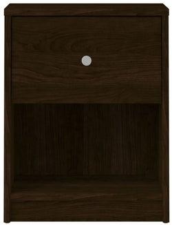 May Dark Walnut Bedside Cabinet