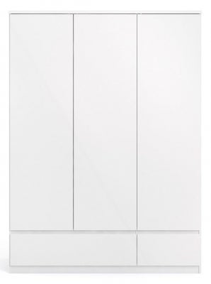 Naia White High Gloss 3 Door Triple Wardrobe