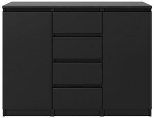 Naia Black Matt 2 Door 4 Drawer Sideboard