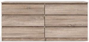 Naia Truffle Oak 6 Drawer Chest