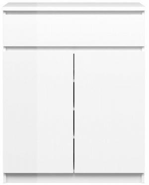 Naia White High Gloss 2 Door 1 Drawer Sideboard