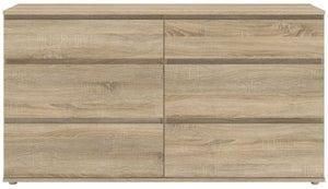 Nova Oak 6 Drawer Wide Chest