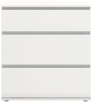 Nova White 3 Drawer Chest