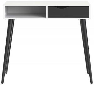 Oslo Console Table - White and Black Matt