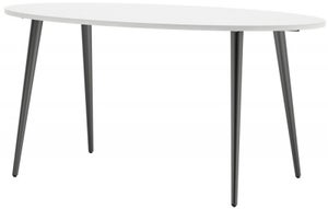 Oslo Oval Dining Table - White and Black Matt