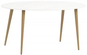 Oslo Oval Dining Table - White and Oak