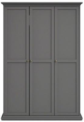 Paris Matt Grey 3 Door Wardrobe