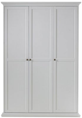 Paris White 3 Door Wardrobe