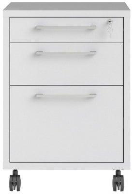 Prima White Mobile File Cabinet