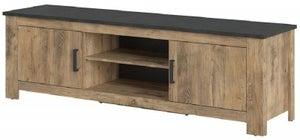 Rapallo Chestnut and Matera Grey Wide TV Cabinet