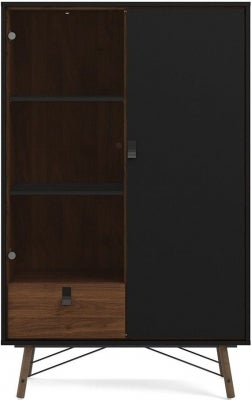 Ry Walnut Display Cabinet