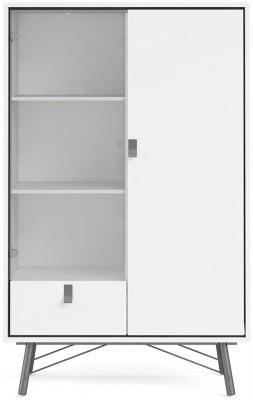 Ry Matt White Display Cabinet