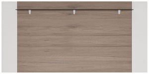 Toronto Rear Wide Wall Fitting - Sanremo Oak and High Gloss White