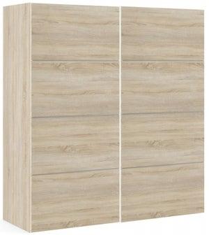 Verona 2 Door 5 Shelves Sliding Wardrobe W 180cm - Oak