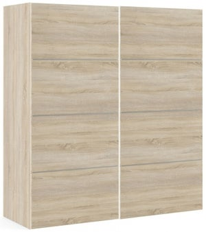 Verona 2 Door Sliding Wardrobe W 180cm - Oak