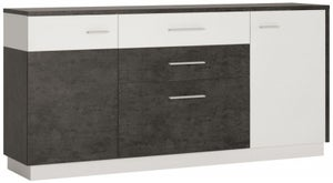 Zingaro Wide Sideboard - Slate Grey and Alpine White