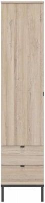 Gami Castel Light Oak 1 Door 2 Drawer Wardrobe