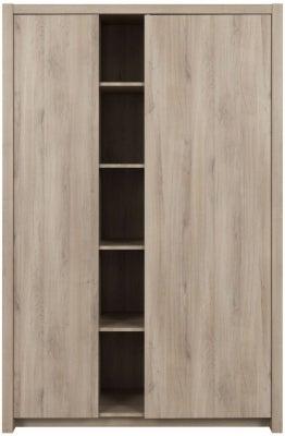 Gami Ethan Light Oak 2 Door Wardrobe
