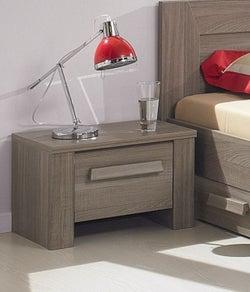 Gami Hangun Charcoal Oak Bedside Cabinet - 1 Drawer