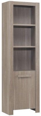 Gami Hangun Charcoal Oak Bookcase - 1 Door