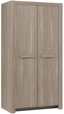 Gami Hangun Charcoal Oak Wardrobe - 2 Door