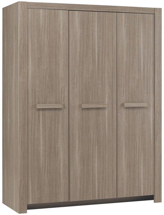 Gami Hangun Charcoal Oak Wardrobe - 3 Door