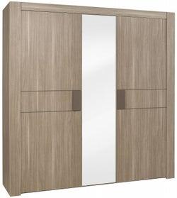 Gami Moka Charcoal Oak Wardrobe - 3 Door