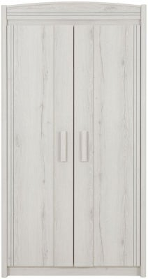Gami Montana Whitewashed Oak 2 Door Wardrobe