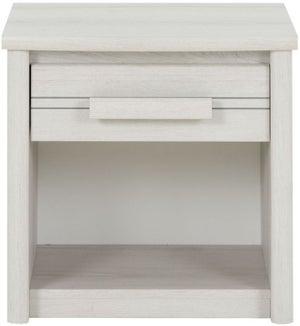 Gami Montana Whitewashed Oak Bedside Cabinet