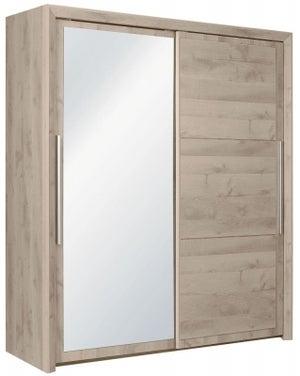 Gami Sarlat Oak Sliding Wardrobe - 2 Door with Mirror