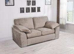 GFA Camden 2 Seater Fixed Sofa - Mink Fabric
