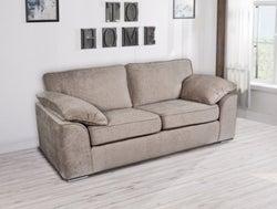 GFA Camden 3 Seater Fixed Sofa - Mink Fabric