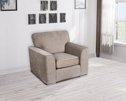 GFA Camden Fixed Armchair - Mink Fabric