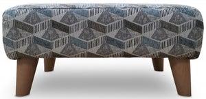 GFA Darcy Ottoman - Aztec Teal Fabric