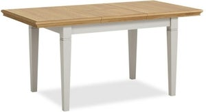 Chester Grey Painted 150cm-200cm Butterfly Extending Dining Table