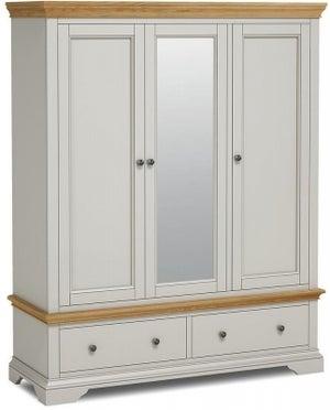 Chester Grey Painted 3 Door Triple Wardrobe