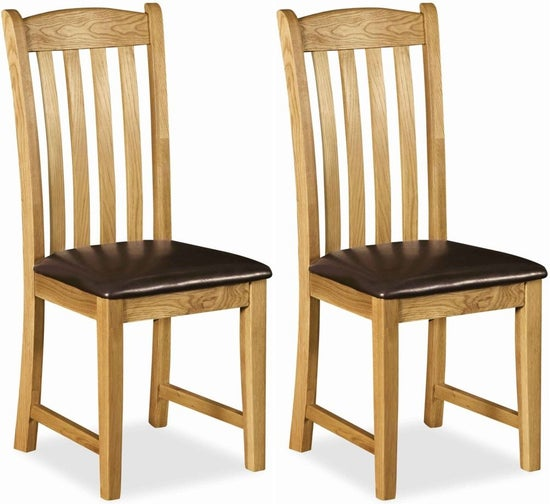 Salisbury Faux Leather Dining Chair (Pair)