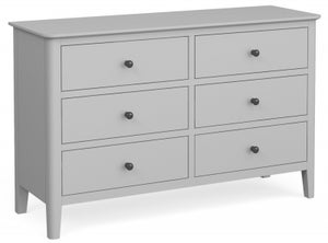 Global Home Stowe Grey Painted 6 Drawer Chest