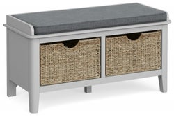 Global Home Stowe Grey Painted Storage Bench