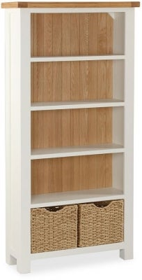 Suffolk Buttermilk Painted Large Bookcase