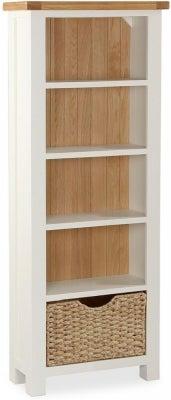 Suffolk Buttermilk Painted Slim Bookcase
