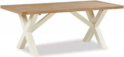 Suffolk Buttermilk Painted 190cm Cross Leg Dining Table