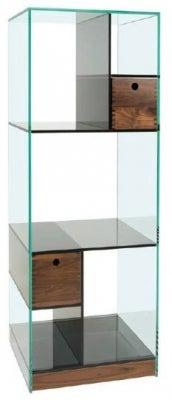 Greenapple Cubic Glass Narrow Shelving Unit