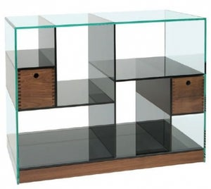 Greenapple Cubic Glass Wide Shelving Unit