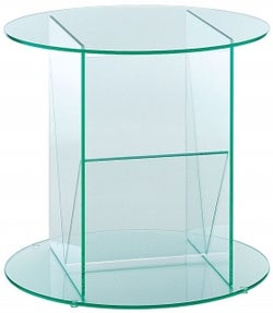Greenapple Pure Glass Round Table and Magazine Rack