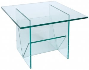 Greenapple Pure Glass Square Table and Magazine Rack