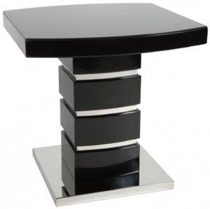 Greenapple Rimini Lamp Table - Glass and Black High Gloss