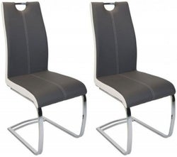 Greenapple Rimini Two-Tone Faux Leather Dining Chair (Pair)