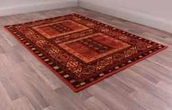 Keshan Heritage Hutchlu Red Worsted Wool Rug
