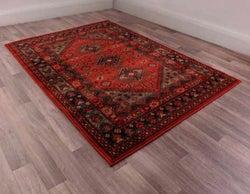 Keshan Heritage Shirvan Red Worsted Wool Rug